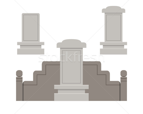 Traditional Chinese tombstone in flat style Stock photo © jiaking1