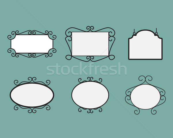 Name tag. Vector signboard. mirror Stock photo © jiaking1