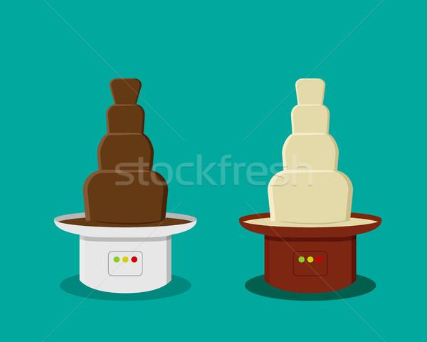 Queso chocolate estilo vector diseno alimentos Foto stock © jiaking1