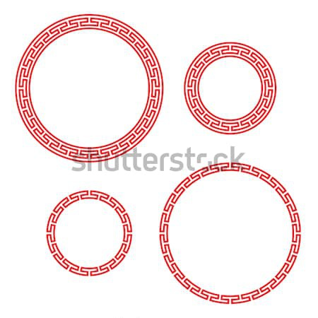 Retro Chinese circle window and photo frame Stock photo © jiaking1