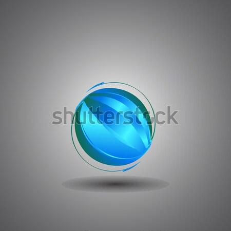 Tecnología mundo logo vector negocios Foto stock © jiaking1