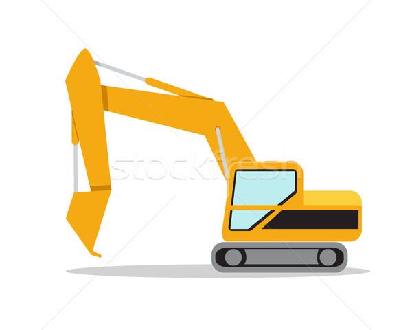 ストックフォト: 実例 · 掘削機 · 白 · ベクトル · デザイン · 芸術
