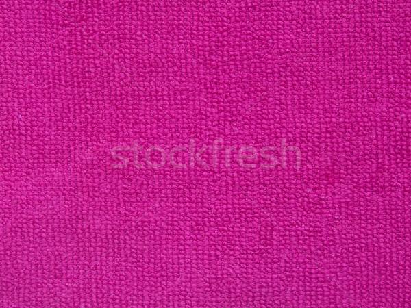 Różowy ręcznik tekstury tkaniny projektu kąpieli Zdjęcia stock © jiaking1