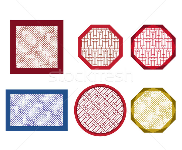 Round, octagon and square table coasters  Stock photo © jiaking1