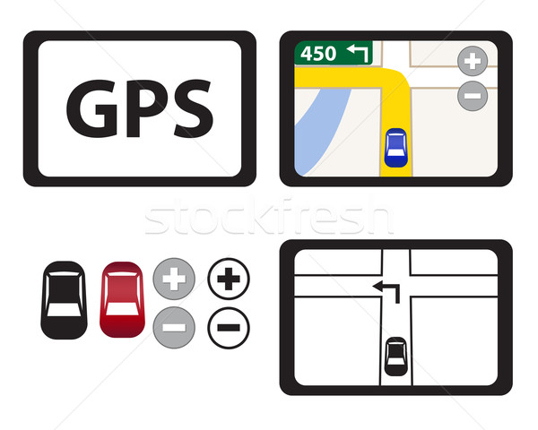 Szett GPS ikonok izolált tárgy vektor Stock fotó © jiaking1