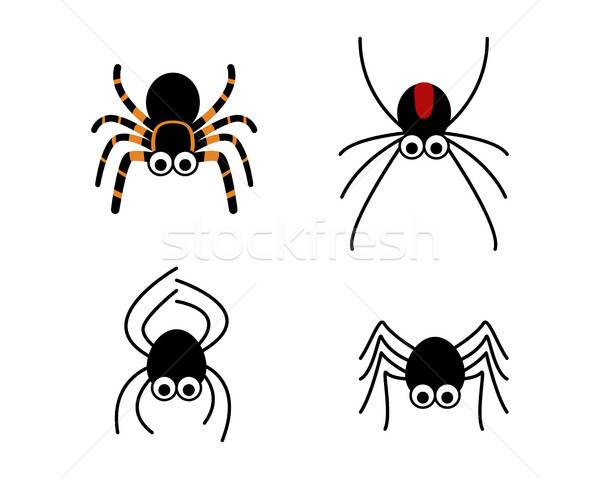 Set of cute spider in simple style, vector Stock photo © jiaking1