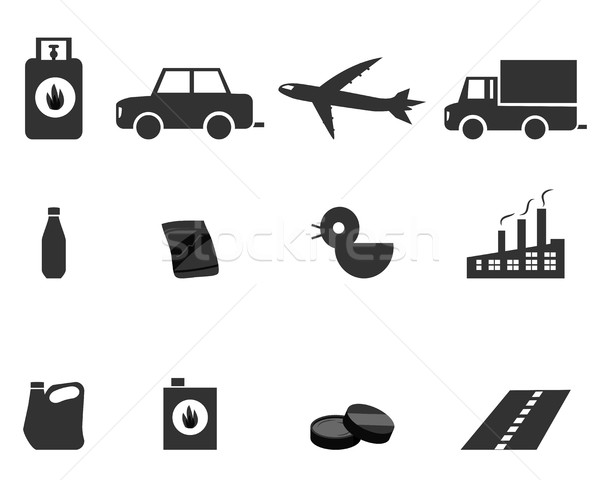 Icons for Oil Refining, Fractional Distillation Stock photo © jiaking1