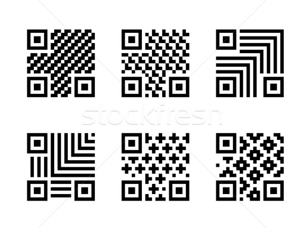Set of QR Code with pattern, isolated on white Stock photo © jiaking1