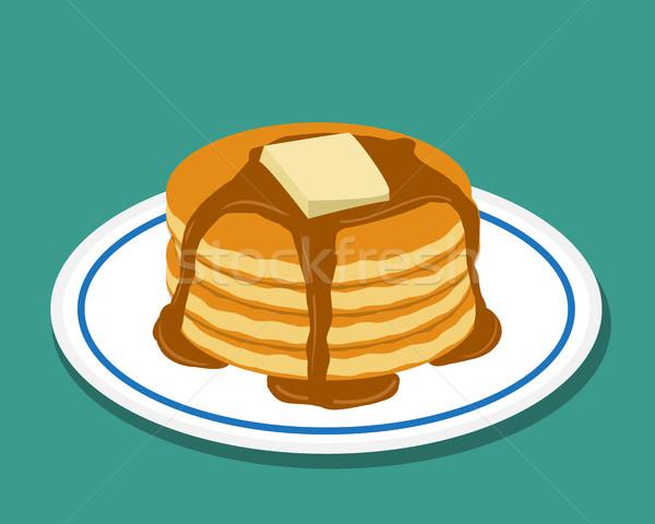 Pan torta estilo aislado vector alimentos Foto stock © jiaking1