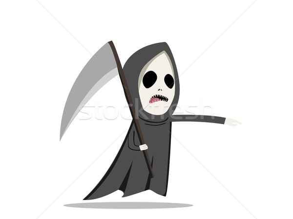 Grim reaper with scythe in flat style, vector Stock photo © jiaking1