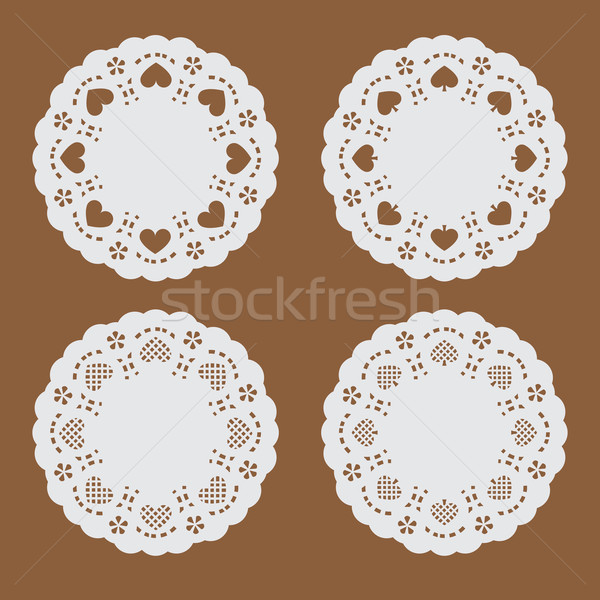 coaster paper,perforated paper texture banner Stock photo © jiaking1