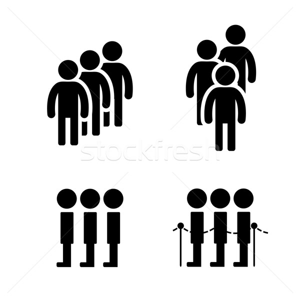 Queue symbol in flat style Stock photo © jiaking1