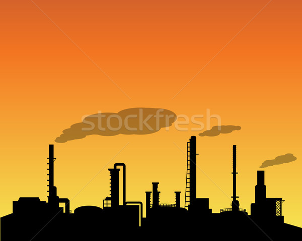 Industrie silhouette vecteur construction Photo stock © jiaking1