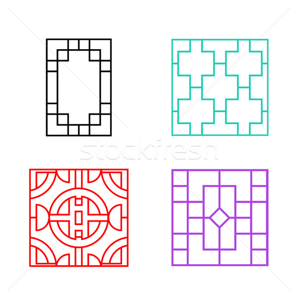 Chinese ornament for door, window, wall and fence Stock photo © jiaking1