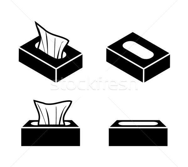 Tissue box icons in flat style, vector design Stock photo © jiaking1