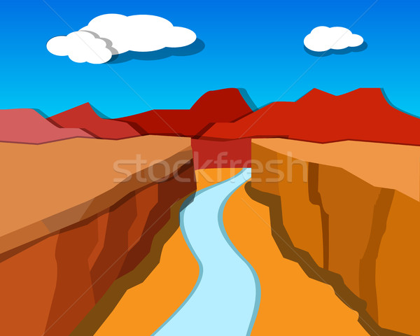 Grand Canyon in origami style, vector Stock photo © jiaking1