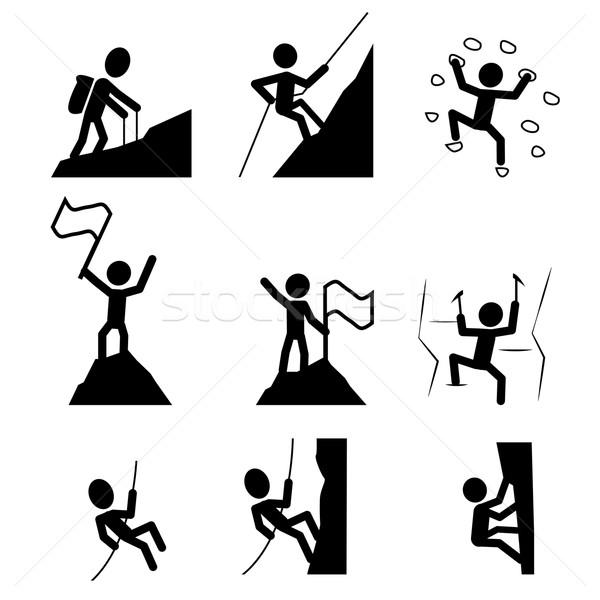 Hiking and climbing icon. vector  Stock photo © jiaking1