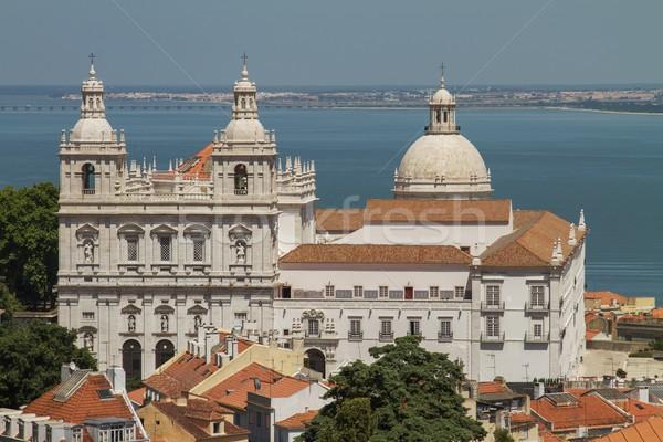 Chiesa Lisbona Portogallo Ocean casa Foto d'archivio © jirivondrous