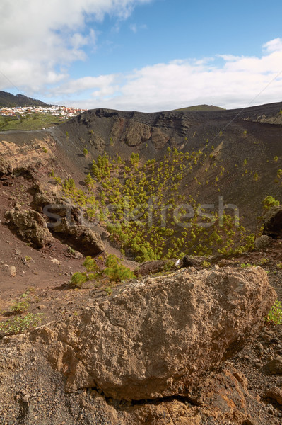 Crater of Volcano San Antonio in Las Palmas at Canary Islands Stock photo © jirivondrous