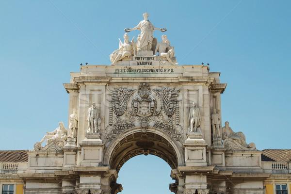 ív Lisszabon Portugália részlet épület város Stock fotó © jirivondrous