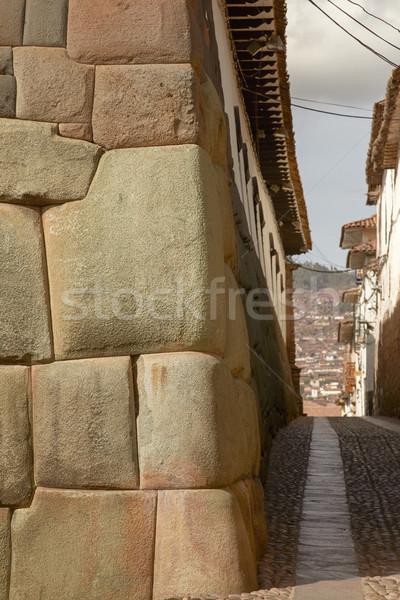 Tarihsel sokak gökyüzü Bina seyahat mimari Stok fotoğraf © jirivondrous