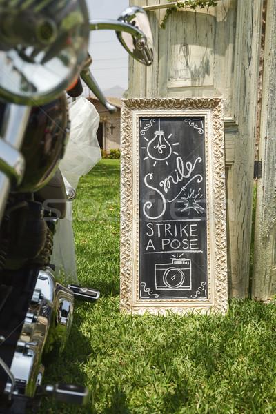 DIY wedding hand written sign Stock photo © jirivondrous