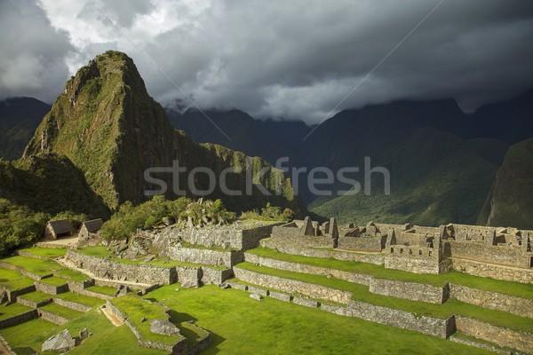 Мачу-Пикчу Перу облачный небе солнце здании Сток-фото © jirivondrous