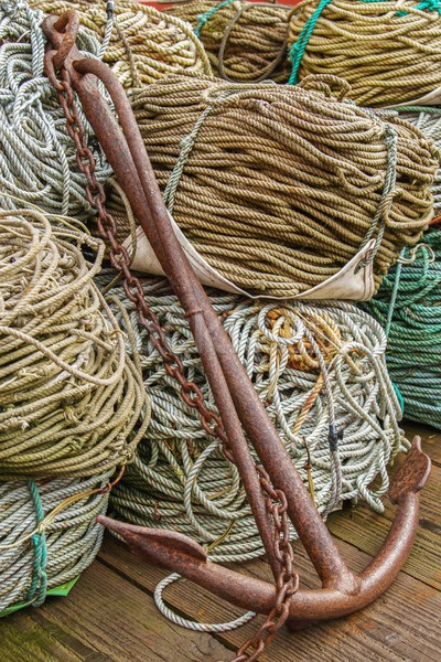 Ancla cuerdas vertical imagen Rusty Foto stock © jirivondrous