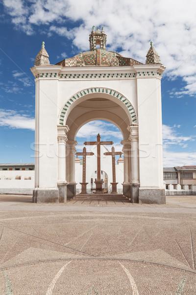 базилика Lady Боливия небольшой туристических города Сток-фото © jirivondrous