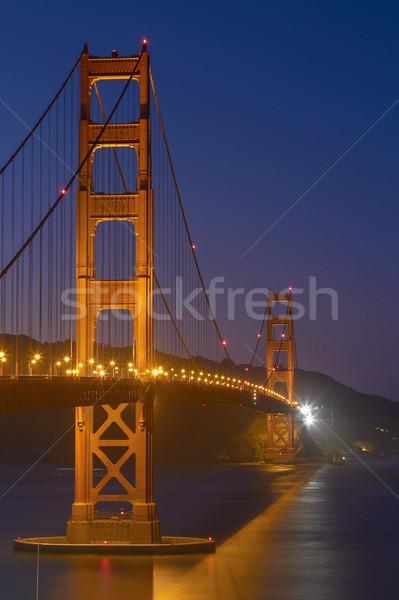 Golden Gate Köprüsü gece San Francisco Kaliforniya Amerika Birleşik Devletleri plaj Stok fotoğraf © jirivondrous