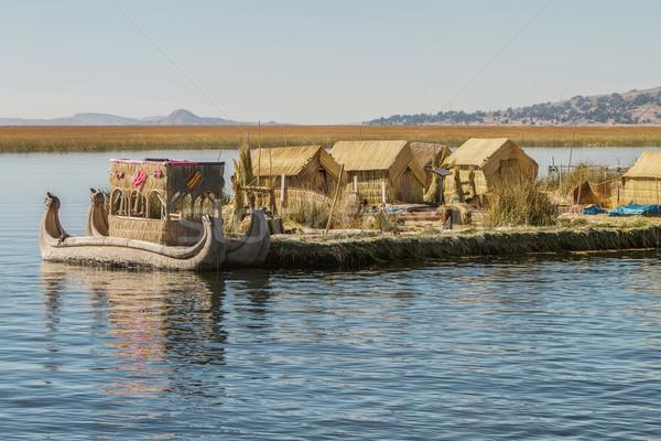 Flutuante ilha lago Peru Bolívia ver Foto stock © jirivondrous