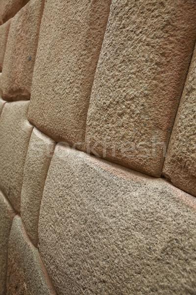 Detail inca muur stad Peru achtergrond Stockfoto © jirivondrous