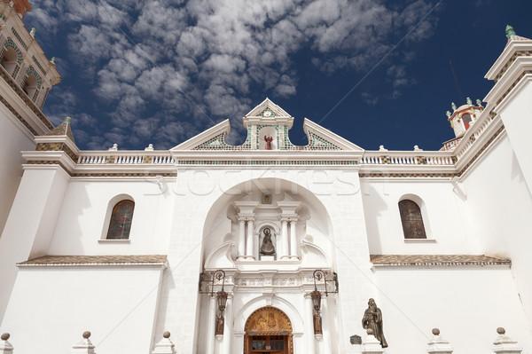 Façade basilique dame Bolivie détail faible Photo stock © jirivondrous