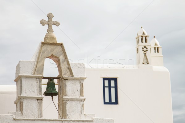 Church with bell in Mykonos, Greece Stock photo © jirivondrous