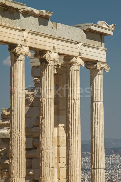 Парфенон город Афины подробность акрополь Сток-фото © jirivondrous