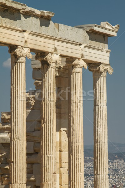 Partenon acima cidade Atenas pormenor Acrópole Foto stock © jirivondrous