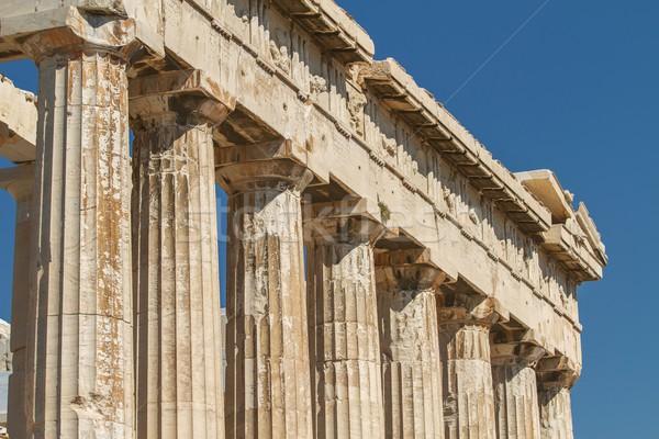 Parthenon Akropol Atina Yunanistan detay Bina Stok fotoğraf © jirivondrous