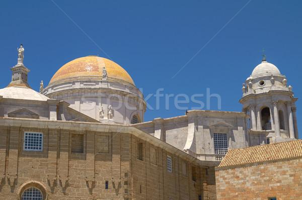 Yakın görmek katedral İspanya Bina yaz Stok fotoğraf © jirivondrous