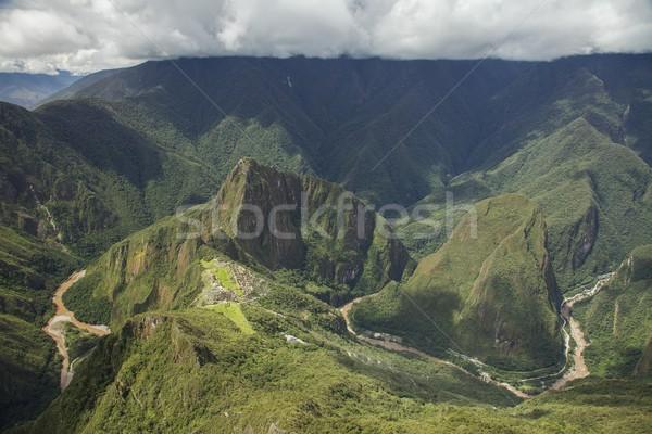 Machu Picchu Peru görmek dağ Bina orman Stok fotoğraf © jirivondrous