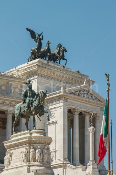 здании лошади флаг архитектура солдата Сток-фото © jirivondrous