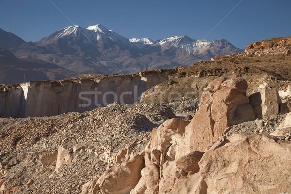 Kő vulkán Peru híres fény vulkanikus kőzet Stock fotó © jirivondrous