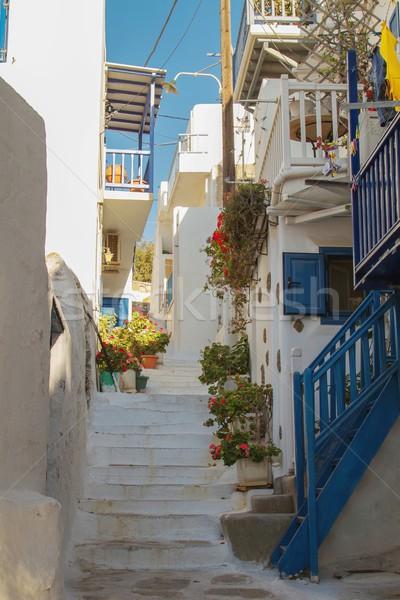 типичный улице Греция комбинация синий белый Сток-фото © jirivondrous