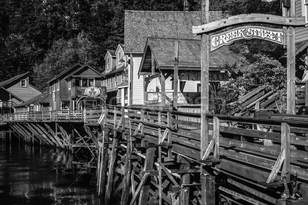 ручей улице черно белые изображение фотография традиционный Сток-фото © jirivondrous