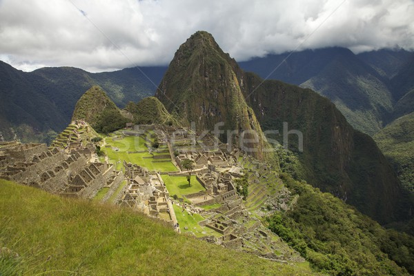 Machu Picchu Peru geleneksel tipik görmek güneş Stok fotoğraf © jirivondrous