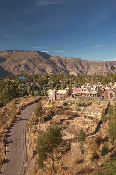 Görmek kasaba Peru dağ seyahat otel Stok fotoğraf © jirivondrous