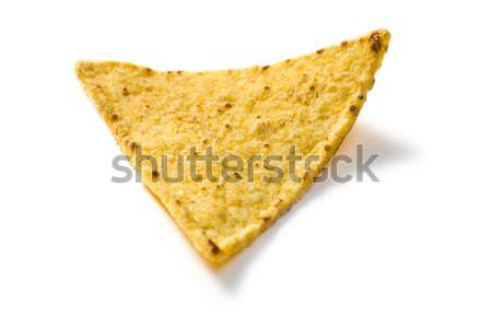 Nachos chipy biały hot jeść szybko Zdjęcia stock © jirkaejc