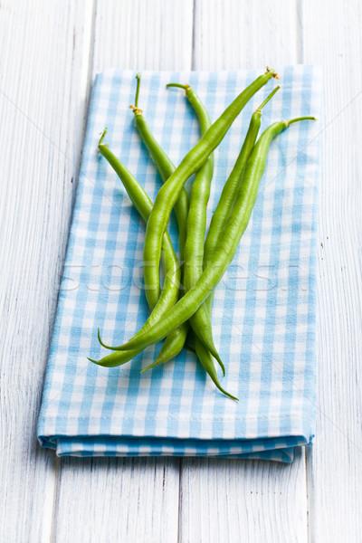 green beans on kitchen table Stock photo © jirkaejc