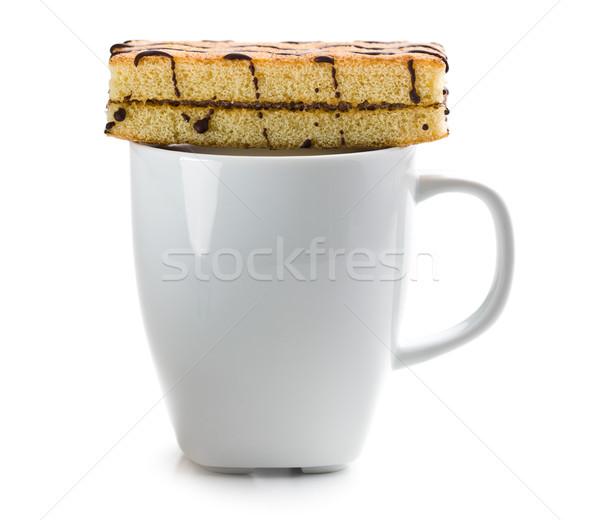 Taza de café dulce postre alimentos fondo torta Foto stock © jirkaejc