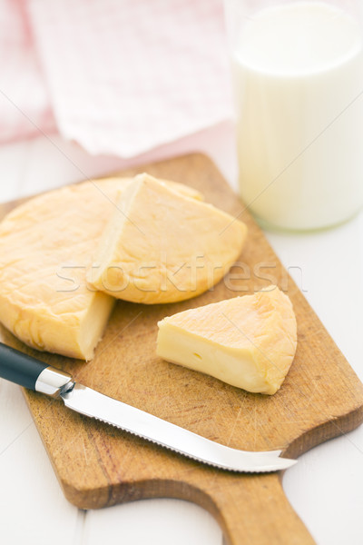 french cheese on cutting board Stock photo © jirkaejc