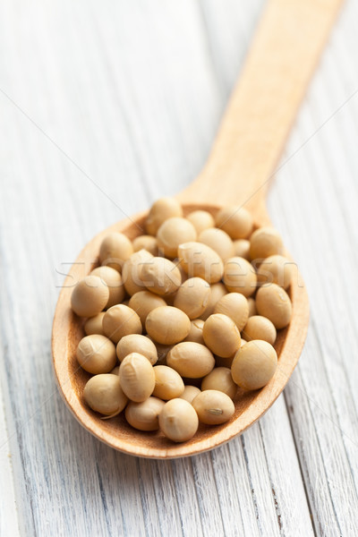 soybeans in wooden spoon Stock photo © jirkaejc